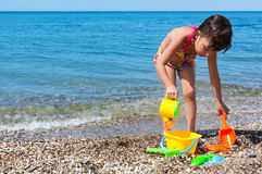 Child on beach vacation Royalty Free Stock Images