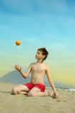 Child on the beatch Royalty Free Stock Photo
