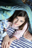 Child in the bed Royalty Free Stock Photos