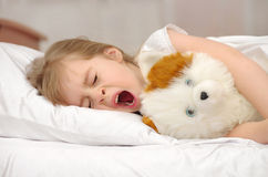 Child in bed Royalty Free Stock Image