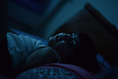 Child at night Stock Images