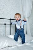 Child in bedroom Stock Image