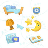 Child Bedroom Objects Set Stock Image