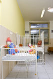 Child beds in the hospital room. Child beds with toys in the hospital room Royalty Free Stock Photography