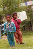 Child beggars in the Himalayas Idian Royalty Free Stock Photography