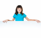 Child behind a board Royalty Free Stock Images