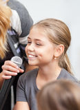 Child being interviewed Stock Images