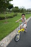A child with bicycle Stock Photography