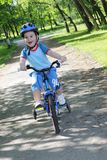 Child and bicycle Royalty Free Stock Images