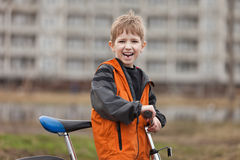 Child with bicycle Royalty Free Stock Images