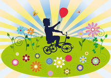 A child on a bicycle Royalty Free Stock Photos