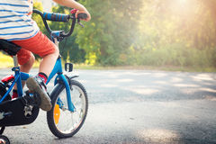 Child on a bicycle Stock Image