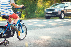 Child on a bicycle Stock Photography