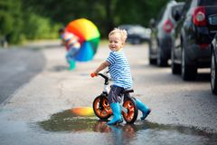 Child on a bicycle Royalty Free Stock Photos