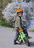 Child on bicycle Royalty Free Stock Image