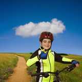 Child with bicycle Stock Image