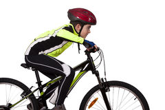 Child with bicycle royalty free stock photography
