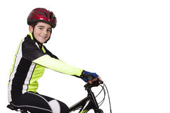 Child bicycle sportswear Stock Images
