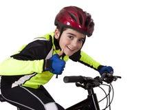 Child bicycle sportswear Royalty Free Stock Photos