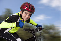Child bicycle sportswear Royalty Free Stock Images
