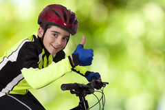 Child bicycle sportswear Royalty Free Stock Image