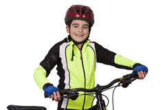 Child with bicycle royalty free stock photo