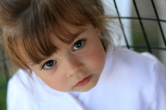 Child with big cute eyes Royalty Free Stock Image