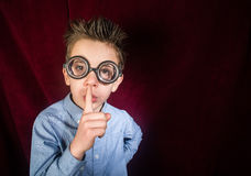 Child with big glasses Royalty Free Stock Photos