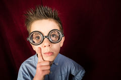 Child with big glasses Royalty Free Stock Images