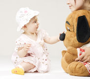 Child and big toy Royalty Free Stock Photos