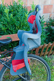 Child bike seat Stock Photo