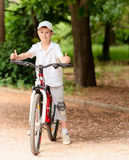 Child with bike Stock Photography