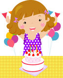 A child on a Birthday. Illustration of a child on a Birthday Stock Images