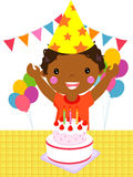 Child on a Birthday Royalty Free Stock Image