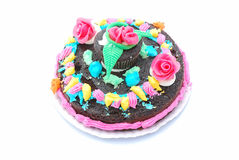 Child birthday cake Stock Photography