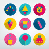 Child birthday colorful pictogram. Royalty Free Stock Photography