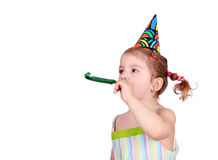 Child with birthday hat Royalty Free Stock Photo