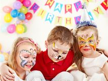 Child birthday party . royalty free stock photo