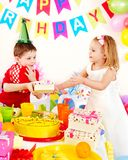 Child birthday party . Stock Images