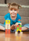 Child and blocks Royalty Free Stock Photo
