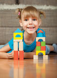 Child and blocks Royalty Free Stock Photography