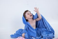 Child in blue Royalty Free Stock Photo