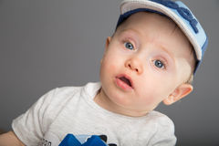 Child in blue cap Stock Image