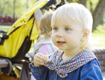 The child with blue eyes Royalty Free Stock Photo