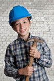 Mason apprentice stock photo