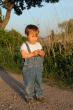 Child in blue jeans Royalty Free Stock Photos