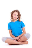 Child in blue sport's shirt Royalty Free Stock Photo