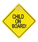 Child on board sign Stock Photography