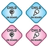 Child on board Stock Images