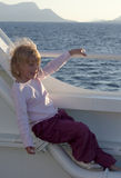 Child on boat Royalty Free Stock Image